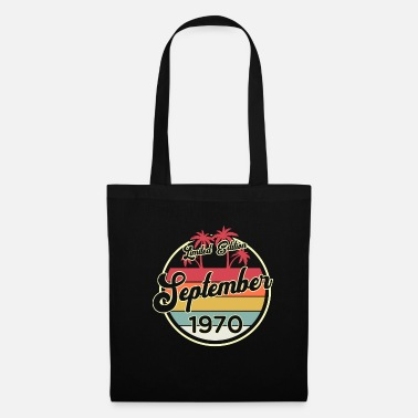 Vintage Vintage 50th Birthday September 1970 Sports Gift - Tote Bag