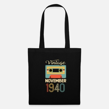 Tape Vintage November 1940 80th Birthday 80 Year Gift - Tote Bag