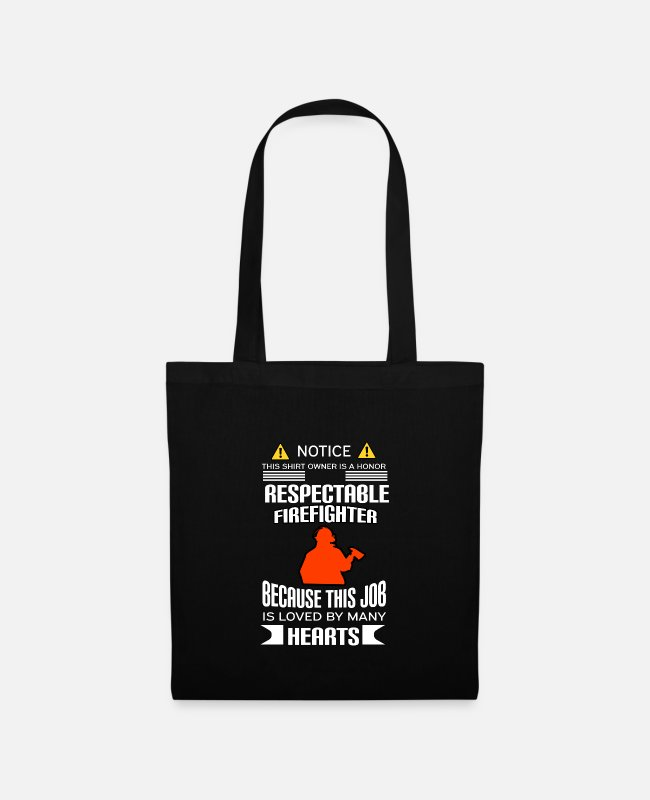 Fire Department Bags & Backpacks - Firefighters firebrigade fire defense defender new ho - Tote Bag black