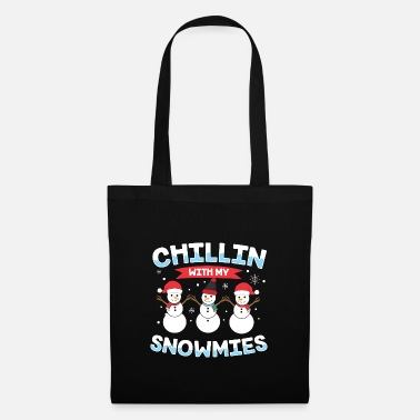 Xmas Chillin' With My Snowmies Snowman Christmas Gift - Tote Bag