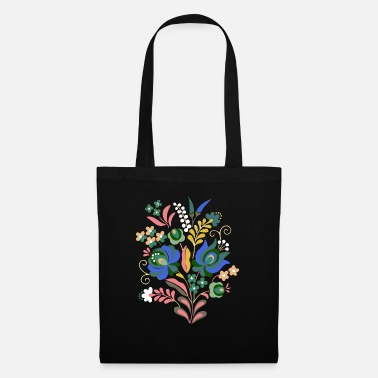 Hungary Hungarian flowers, flowers, heart, wreath, colorful - Tote Bag