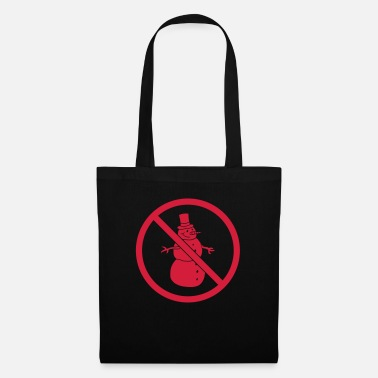 Cold prohibition sign no snowman allowed forbidden sch - Tote Bag