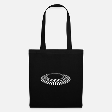 Graphic Art UFO - Dashed Disc - Tote Bag