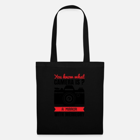 Birthday Bags & Backpacks - You know what camera is - Tote Bag black