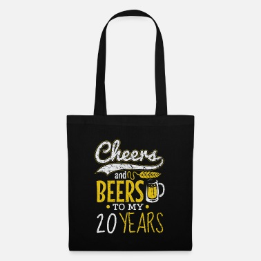 Month Cheers and Beers 20th Birthday Gift Idea - Tote Bag