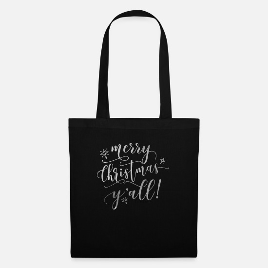 Snow Bags & Backpacks - Merry Christmas Y'all! Xmas Holiday Love - Tote Bag black