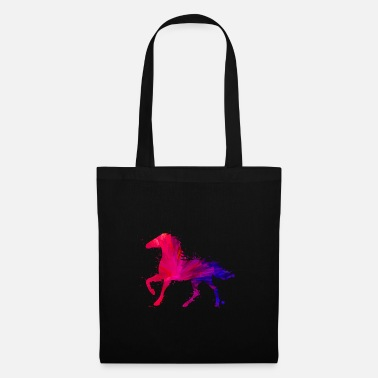Horseshoe horses colors gift riding hobby - Tote Bag