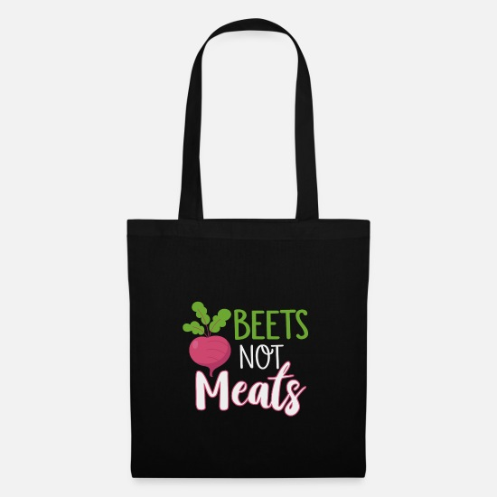 Pepper Bags & Backpacks - Rüben nicht Fleisch vegan - Tote Bag black