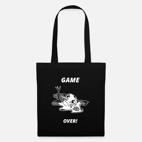 Birthday Bags & Backpacks - Game over - Snowman - Winter - Tote Bag black