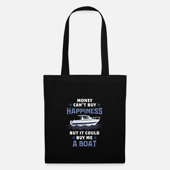 Cruise Bags & Backpacks - BOATING: Money Could Buy Me A Boat - Tote Bag black