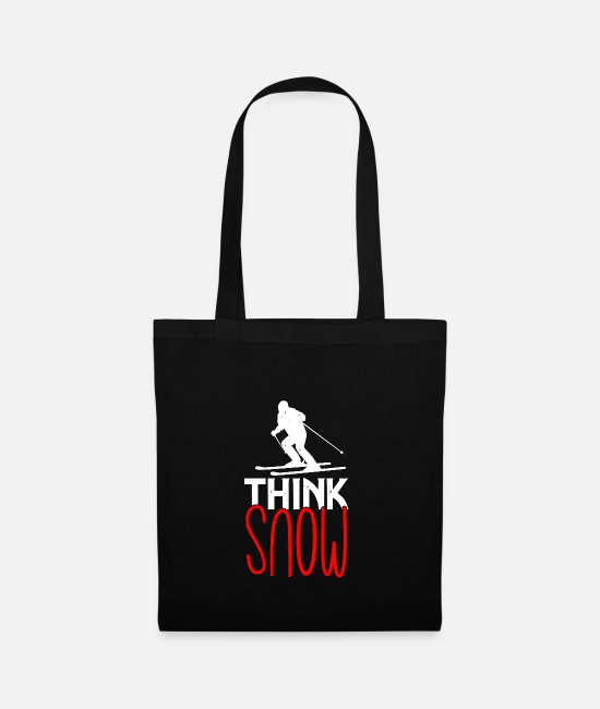 Snow Bags & Backpacks - Think snow - Tote Bag black