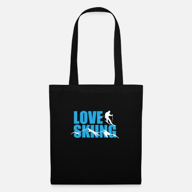Ski For Love skiing - Tote Bag