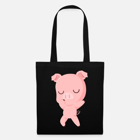 Birthday Bags & Backpacks - Dabbing pig Dancing piggy Dab - Tote Bag black
