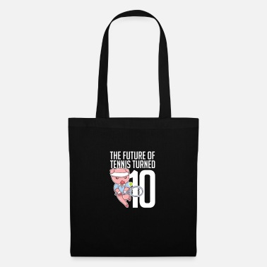 Piggy The Future Of Tennis Turned 10 Pig Sport Player - Tote Bag