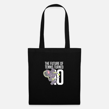 Tennis Player The Future Of Tennis Turned 10 Cool Elephant - Tote Bag