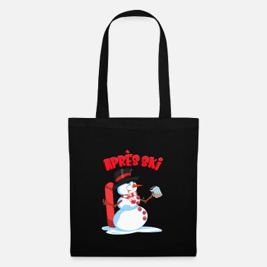 Aprèsski Drunken Snowman - Apres Ski Winter Skiing Lodge - Tote Bag