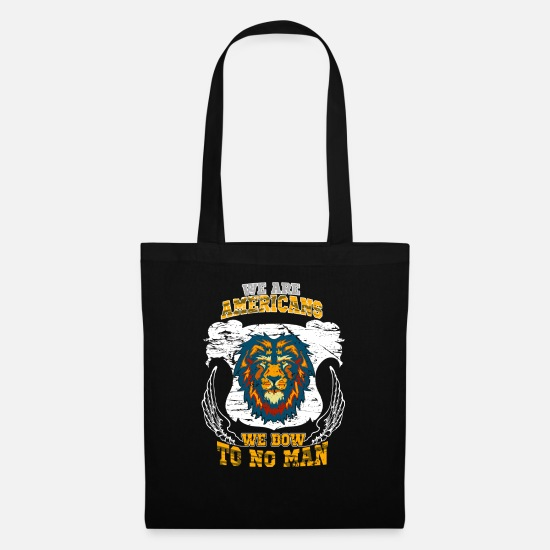 Usa Bags & Backpacks - We are Americans - Tote Bag black