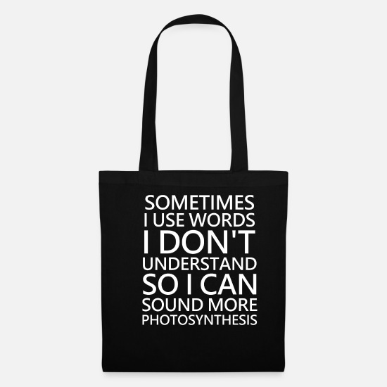 Sayings Bags & Backpacks - Foreign words Intelligent IQ - Tote Bag black