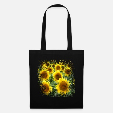 Birdseed Sunflowers are also called compass plants - Tote Bag