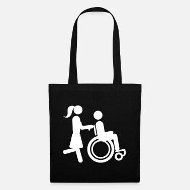 Darwin Wheelchair Wheelchair Wheelchair Rolli - Tote Bag