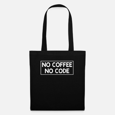 Java Coffee junkie programming no code gift - Tote Bag