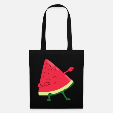 Vegetarian Funny Water Melon Dabbing Watermelon - Tote Bag