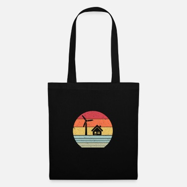 Active Climate Change Print. Retro Style Renewable - Tote Bag
