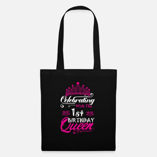 Legend Bags & Backpacks - Celebrating With the 1st Birthday Queen - Tote Bag black