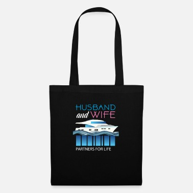 Wife Husband And Wife Cruising Partners - Tote Bag