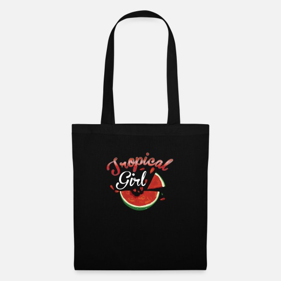Cookie Bags & Backpacks - tropical girl - Tote Bag black