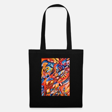 Psychedelic A totally insanely cool motif on shirt - Tote Bag