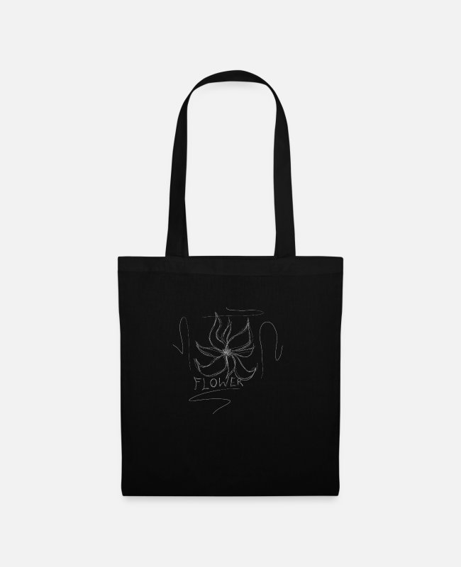 Drawing Bags & Backpacks - flower - Tote Bag black
