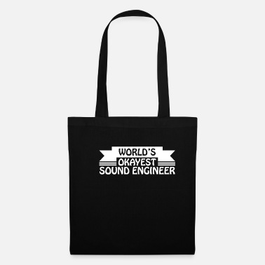 Audio Cassette World's Okayest Sound Egnineer Sound Technician Shirt - Tote Bag