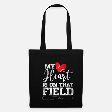 Helm My Heart Is On That Field Baseball - Stoffbeutel