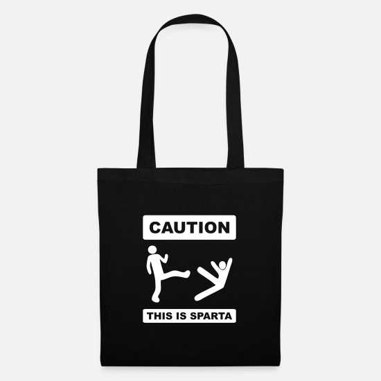Note Bags & Backpacks - caution! this is sparta - Tote Bag black