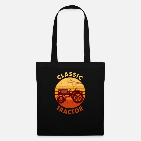 Gift Idea Bags & Backpacks - Tractor Tractor Tractor Classic Tractor Gift - Tote Bag black