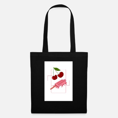 icecream and cherry - Tote Bag
