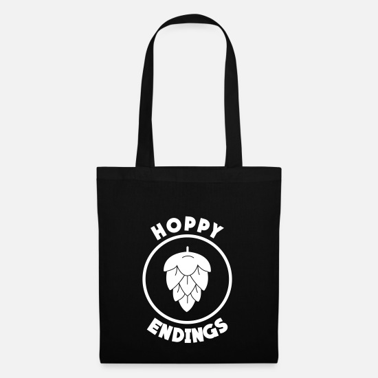 Wiskey Bags & Backpacks - Hoppy Ending - Tote Bag black