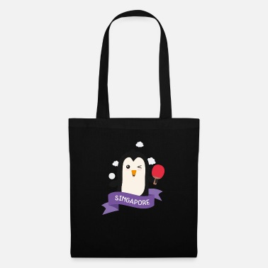 Outdoor Penguin table tennis from SINGAPORE Gift - Tote Bag