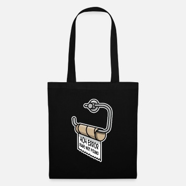 Error 404 page not found programmer toilet paper - Tote Bag