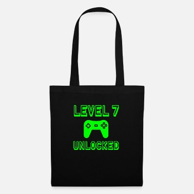 Funny Level 7 Unlocked Gamer Seventh 7th Birthday Gift - Tote Bag