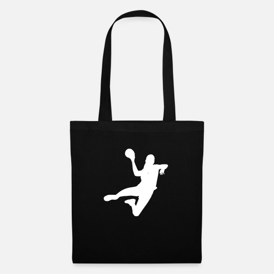 Symbol  Bags & Backpacks - Handball player Handball player jump throwing block - Tote Bag black