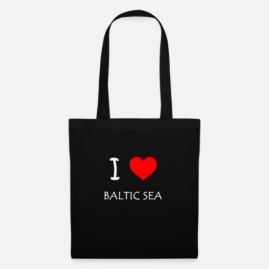 Love Bags & Backpacks - I Love Baltic Sea - Tote Bag black