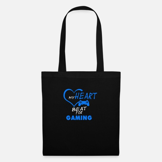 Progamer Bags & Backpacks - My heart beat for gaming - Tote Bag black