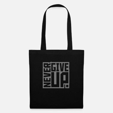 Success square square text logo never give up cool t - Tote Bag