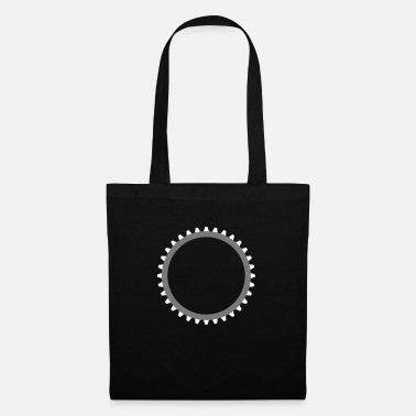 Cool Art gear mechanical round serrated clockwork machine ba - Tote Bag