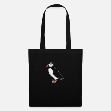 Ornithologe jz.birds Papageitaucher Vogel Design Illustration - Stoffbeutel