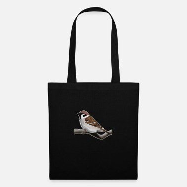 Painted Bird Painted field sparrow bird animal design - Tote Bag