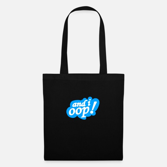 Gift Idea Bags & Backpacks - and i oop - Tote Bag black