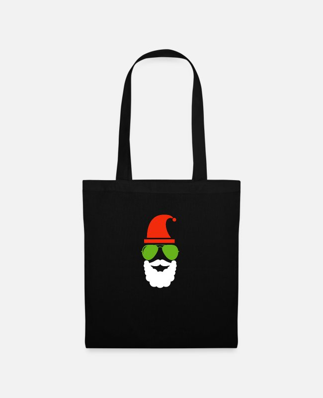 Beard Bags & Backpacks - Santa Claus - Tote Bag black